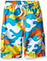 Kanu Surf Boys' Little Specter Quick Dry UPF 50+ Beach Swim Trunk, Camo Aqua, 7