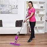 Vinsani Purple Spray Floor Mop - Water Spraying Floor Cleaner with Refillable Bottle for Hardwood, Wood, Vinyl, Ceramic, Concrete, Tiles Laminate Floor Includes 2 Microfibre Pads