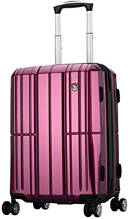 Luggage, PC Material Suitcase, Beautiful And Practical, Black, 20 Inches Travel Equipment (Color : Purple)