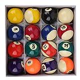 Juego Completo de 16 Bolas de Billar número 52,5 mm y. Deporte Interior de los Accesorios de la Mesa de Billar de la Resina del poliéster de la Bola de señal para la Barra de la Sala de Juegos