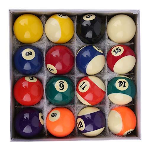 DAUERHAFT Billard Pool Ball Set Billardtisch Zubehör Kratzfester amerikanischer Stil für Spielzimmer