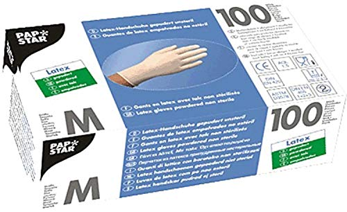 PAPSTAR 12229 Handschuhe M, Inhalt 100 Stück, weiß