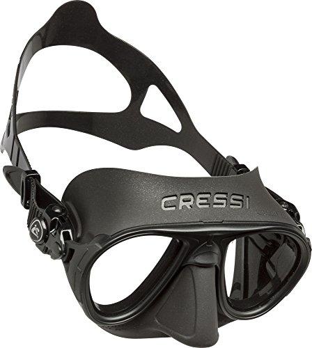 Cressi Erwachsene Calibro Tauchmaske, Schwarz/Schwarz, Uni
