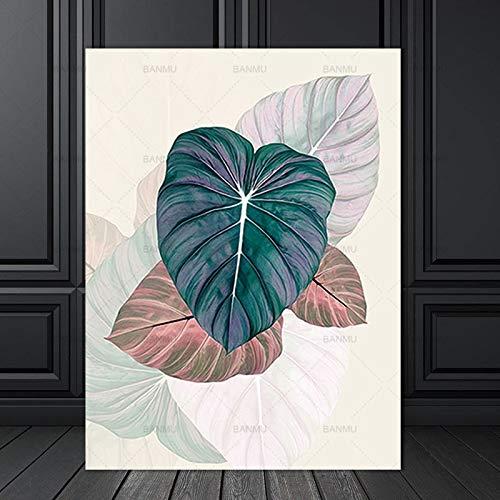 yaoxingfu Kein Rahmen Poster Wandkunst Bild Dekor Leinwand Blume ng Wandkunst Drucke Pflanze Bild die NGS an der Wand Bild kein Rahmen 50x70cm