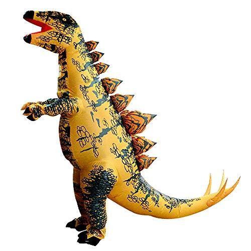 Inflatable Dinosaur Costume Adult, 7.2 Ft Huge Stegosaurus Costume Yellow