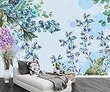 Papel Pintado 3D Tapiz Arándano De Baya Dibujado A Mano Tv Fondo Pared Decorativos Papel Tapiz Wallpaper