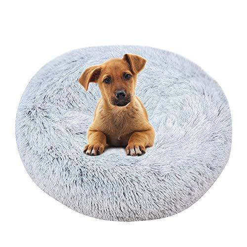 Vejaoo Letto di Animali, Letto per Gatto Lavabile, Cuscino per Gatto Adatto per Gatto e Cane di Piccola Taglia XZ002 (Diameter:100cm, Gradient Grey)