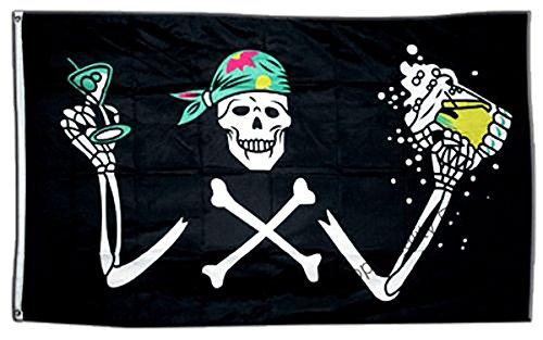 GIZZY® Piraat met bier 5' x 3' vlag