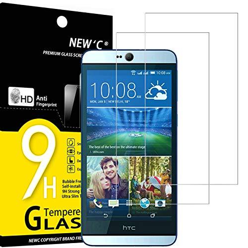 NEW'C 2 Stück, Schutzfolie Panzerglas für HTC Desire Eye, Frei von Kratzern, 9H Festigkeit, HD Bildschirmschutzfolie, 0.33mm Ultra-klar, Ultrawiderstandsfähig