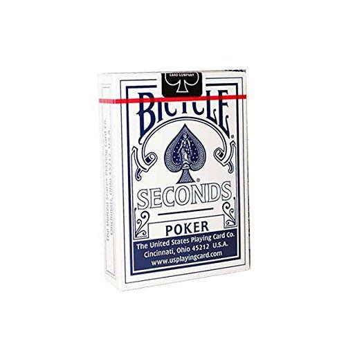 Mazzo Bicycle second dorso blu - formato poker - rider back - carte da gioco - con omaggio di Fabbrica Magia