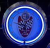 Neon reloj Neon Clock Alfa Romeo Milano Scuderia del Portell