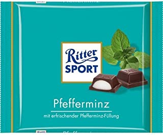 Ritter Sport Pfefferminz / peppermint (3 Bars each 100g) - fresh from Germany by Ritter Sport