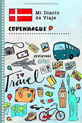 Copenhague Diario de Viaje: Libro de Registro de Viajes Guiado Infantil - Cuaderno de Recuerdos de Actividades en Vacaciones para Escribir, Dibujar, Afirmaciones de Gratitud para Niños y Niñas