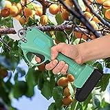S SMAUTOP Sécateur électrique Jardin, 30 mm sans Fil Sécateur Électrique Coupe-Branche cisailles à Branches électriques avec 2 Batteries de Secours Rechargeable, pour d'arbre de Branche de haie