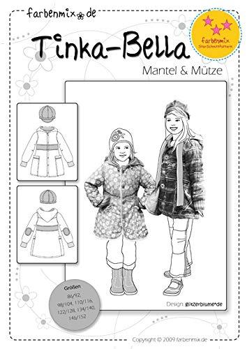 Farbenmix Tinka-Bella Schnittmuster (Papierschnittmuster für die Größen 86/92-146/152) Mantel und Mütze