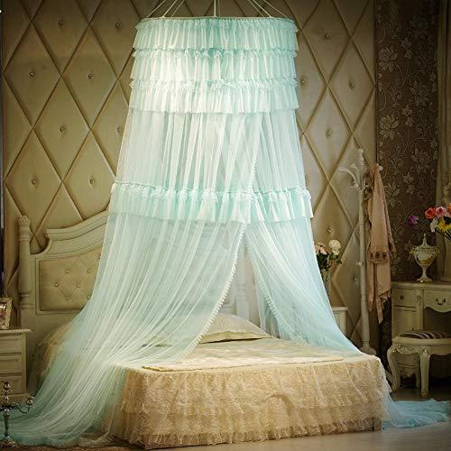 Muggennet voor bedden, met koepel, muggennet, prinsessen-encryptie, in Europese stijl. 0.9 meters - 2.0 meters Aqua Groen