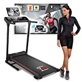 Photo Gallery ym tap120 tapis roulant elettrico pieghevole 12 km/h, display touchscreen, bluetooth app kinomap e zwift coaching/video, inclinazione, sensore cardio, 12 programmi, 1.5hp (3.5hp picco) speaker + aux