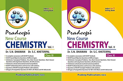 Pradeep's New Course Chemistry for Class 11 (Set of 2 Vols.) Examination 2020-2021