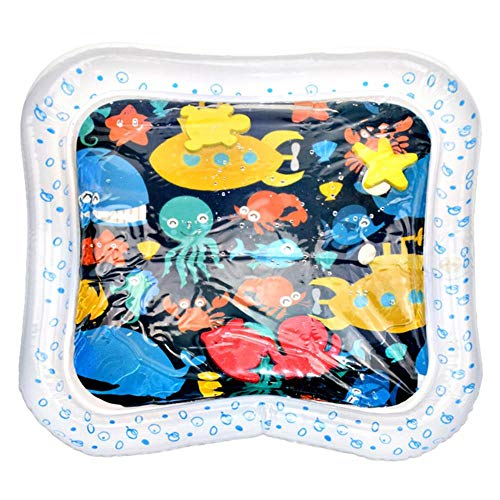 WXCL Tapis d'eau Créatif Oreiller d'eau Gonflable Infantile Game Pad Toddler Drôle Pat Pad Jouet Bébé Gonflable Pat Pad Bébé, A 45x45 cm