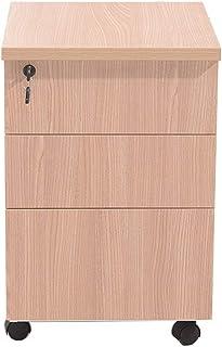 Armoires Cabinet en Bois Mobile d'activité de Grain d'activité de classeur de Tableau de Bureau Trois tiroirs avec la Peti...