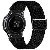 GBPOOT 22mm Armband Kompatibel mit Samsung Galaxy Watch 3(45mm/44mm)/Watch 46mm/Gear S3 Classic/Frontier,Einstellbares Nylon Armbänder Weiche Sport Ersatzband,Black,22mm