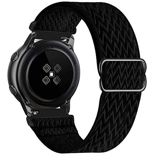 GBPOOT 22mm Armband Kompatibel mit Samsung Galaxy Watch 3(45mm/44mm)/Watch 46mm/Gear S3 Classic/Frontier/Huawei GT2,Einstellbares Nylon Armbänder Weiche Sport Ersatzband,Black,22mm