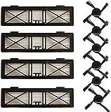 CNOP Kit de accesorios accesorios para Neato Botvac Serie D D75 D80 D85 Botvac 65 70e 75 80 85 Series Filtro HEPA Cepillo Principal Cepillo Lateral Reemplazo de Aspiradora (tamaño : Set A)