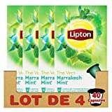 Lipton Thé Vert Marrakech Mint, Capsules Compatibles Nespresso, Label Rainforest Alliance 40 Capsules (Lot de 4x10 Capsules)