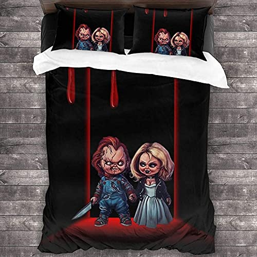 Bride of Chucky - Juego de ropa de cama, funda nórdica ligera y transpirable (Bride4, 135 x 200 cm + 50 x 75 cm x 2 cm)