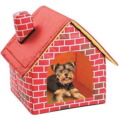 Hundekissen Hundematte Hundebett Cat Puppy Home Tragbare Hundehütte Aus Rotem Backstein Warmes Und Gemütliches Katzenbett Hundehüttenhaus Für Haustiere Tiere Abnehmbares Reisehaus