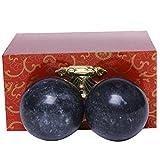 Qigong-Kugeln, 3,6cm, chinesische Übungen, Stresslinderung, Dunkelgrau/natürliche Jade,...