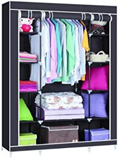 Garde-Robe Simple Armoires De Rangement Multifonctions Garde-robe Simple Tissu Tissé Armoire En Acier Pliage Convient Pour...