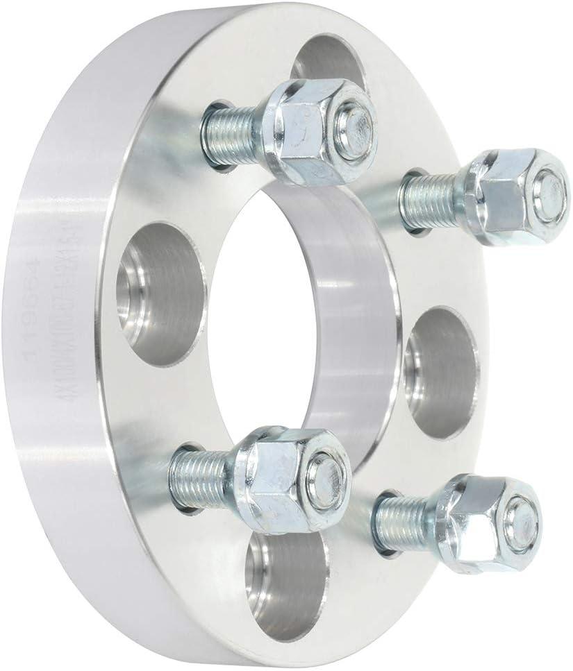 CTCAUTO 4PCS 4x100 1 inch Wheel Spacers adapters 4 Lug 4x100mm to 4x100mm 12x1.5 studs 67.1mm fit for A cura Integra C hevrolet Cobalt D odge Neon H onda Prelude