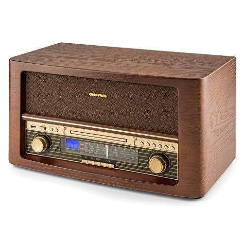 AUNA Belle Epoque 1906 - Equipo estéreo - Minicadena Retro - FM - Pantalla LCD...