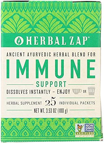 Herbal Zap Immune Support Ayurvedic Herbal Supplement 1 box of 25 packets