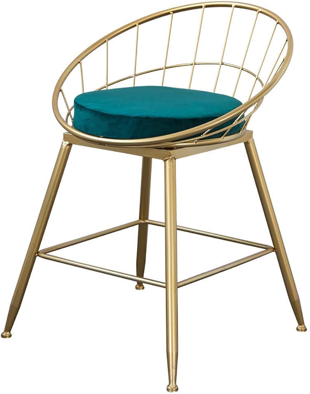 Barstools golden Metal Bar Stool Bar Chair High Stool for Bar Cafe Restaurant (color   A)