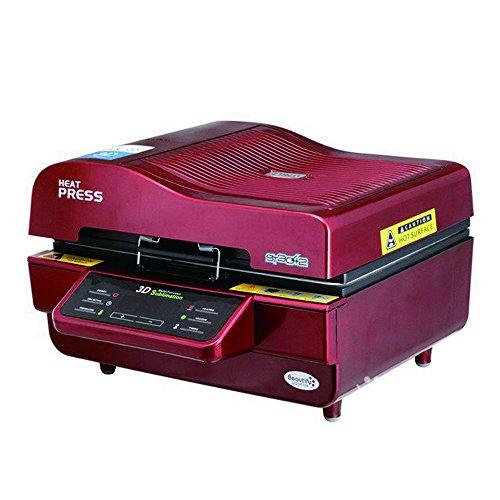 Máquina de la prensa del calor, WER 3D sublimación al vacío prensa del calor de la máquina multifunción 3d vacío prensa del calor de la máquina de transferencia de calor Todo en Uno Rojo