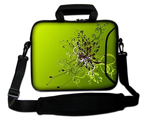 Ektor LUXBURG® 17 Zoll Schultertasche Notebooktasche Laptoptasche Tasche mit Tragegurt aus Neopren für Laptop/Notebook Computer