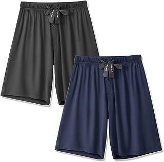 Sponsored Ad - DAVID ARCHY Men's 2 Pack Soft Comfy Bamboo Rayon Sleep Shorts Lounge Wear Pajama Pants