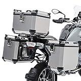Set Maletas ALU Compatible para KTM 390 Adventure 20-21 + baul + Soporte ADX130