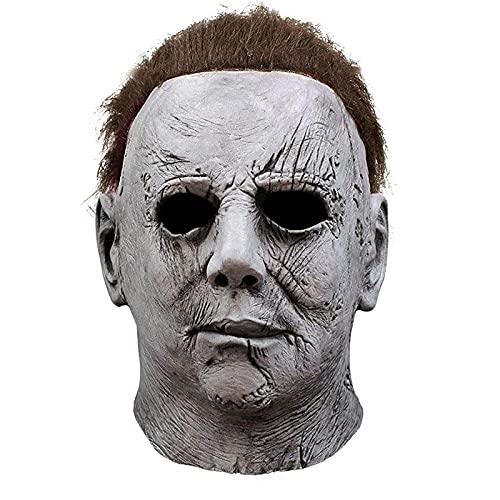 WECOLKIR Michael Myers Maske, Latex Halloween Maske für Erwachsene , Horror Cosplay Kostüm , perfekt für Fasching, Karneval & Halloween, Unisex