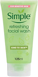 SIMPLE Kind to Skin Refreshing Facial Wash Gel, 150 milliliters
