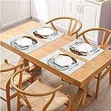 FloraGrantnan - Juego de 8 accesorios de mesa respetuosos con el medio ambiente, diseño de pug pirate Pug Conqueror of the Seas Pipe Skulls para decoración de cocina, comedor