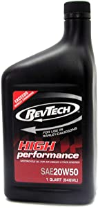 RevTech High Performance SAE 20W50 Mineral Oil for V-Twin Engines Harley-Davidson