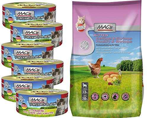 MAC''s Cat Kitten Futtermix 6 x 100g Dose & 1 x 0,3kg Trocken by Zoolox ®