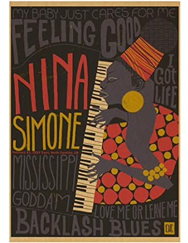 ZYHSB Rompecabezas 1000 Piezas Imagen De Ensamblaje De Madera Póster De Nina Simone Juegos para Adultos Juguetes Educativos Fr184Mj