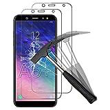 ANEWSIR [2 pièces] Samsung Galaxy A6 Plus 2018 / A6+ 2018 Compatible avec Verre Trempé, Film de...