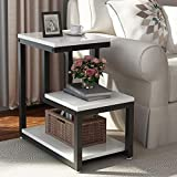 Tribesigns Modern End Tables, 3-Tier Chair Side Table Night Stand with...
