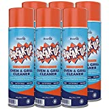 Diversey CBD991206 Break-Up Professional Oven & Grill Cleaner, Heavy Duty Spray Removes Baked on Grease, Aerosol, 19-Ounce (Pack of 6)