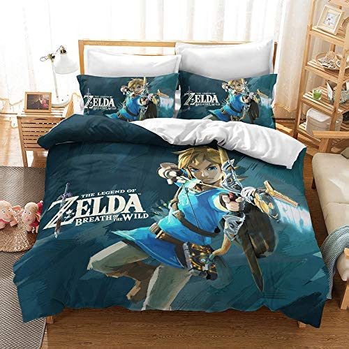 The Legend of Zelda Comforter Cover Game Themed Bedding Set Twin Size Duvet Cover for Boys Girls product image